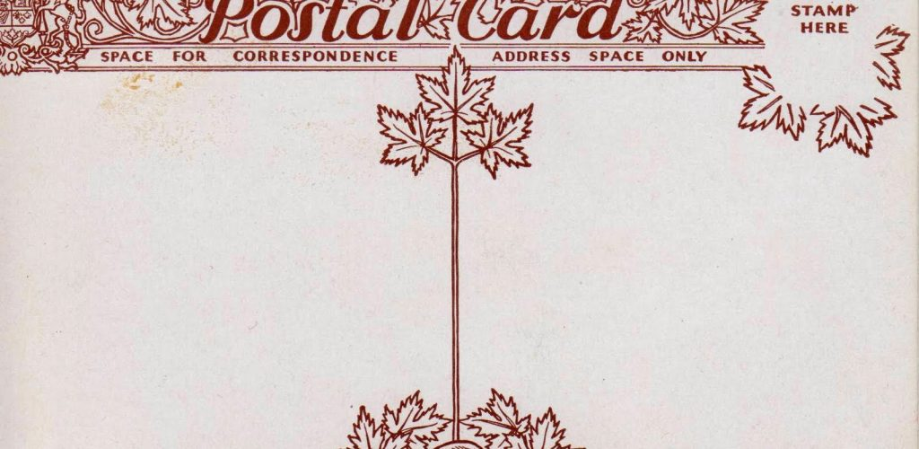 Canadian Postal Card Fancy Back
